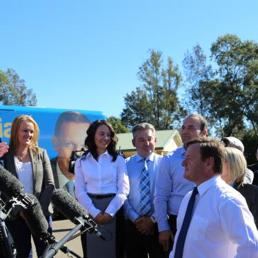 Tony Abbott at rally with candidates in western Sydney