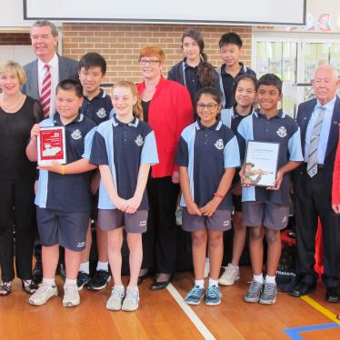 St John Vianney's Parish School ANZAC Day Schools' Award presentation assembly