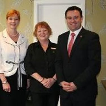 Marise, Linda Kemp from Complete Recruitment Solutions and Penrith MP Stuart Ayres