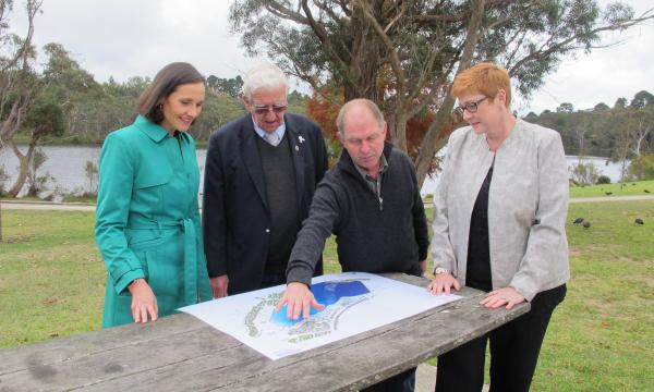 Senator Payne visits Wentworth Falls Lake Reserve to welcome tourism upgrade