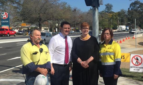 Busy Glenbrook intersection lights up with new upgrades