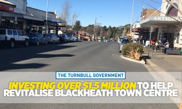 Federal funding for the Blackheath town centre project